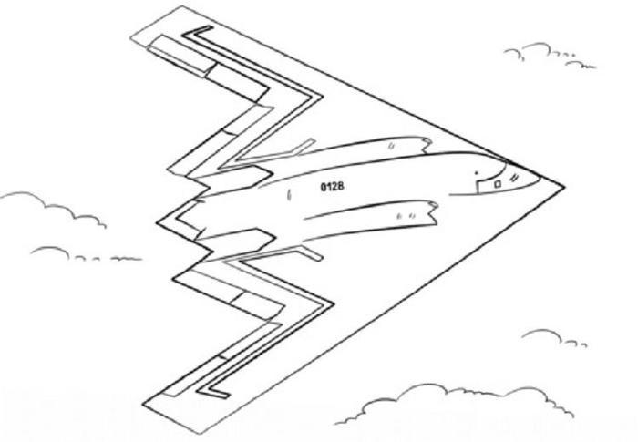 Stealth Bomber Airplane Coloring Pages