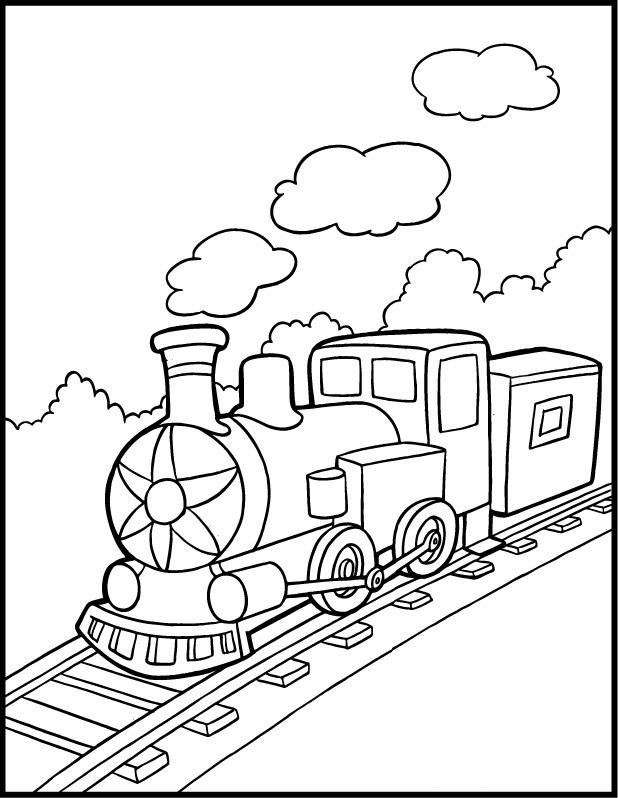 Steam Train Coloring Pages For Kids