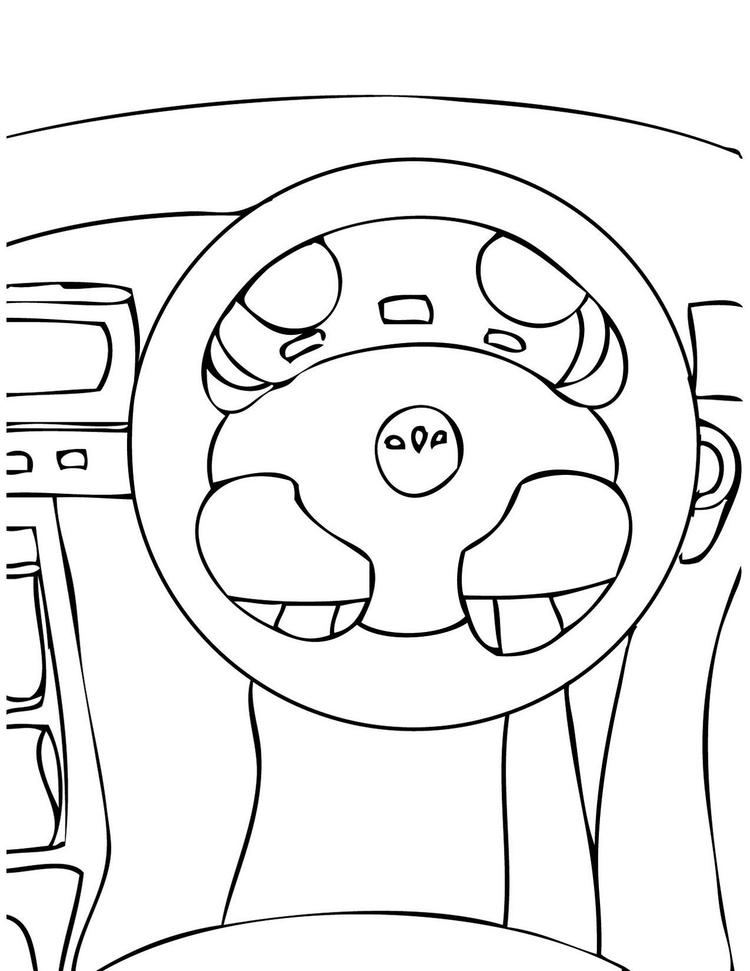 Steering Wheel Parts Of Auto Print Out Drawing