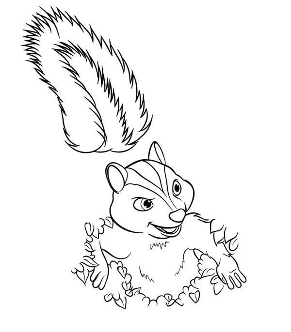 Stella From Over The Hedge Coloring Pages