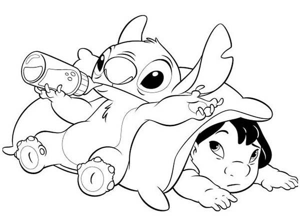 Stitch Coloring Pages For Preschool