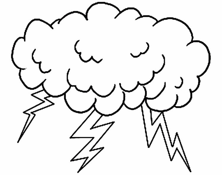 Storm Cloudy Coloring Page