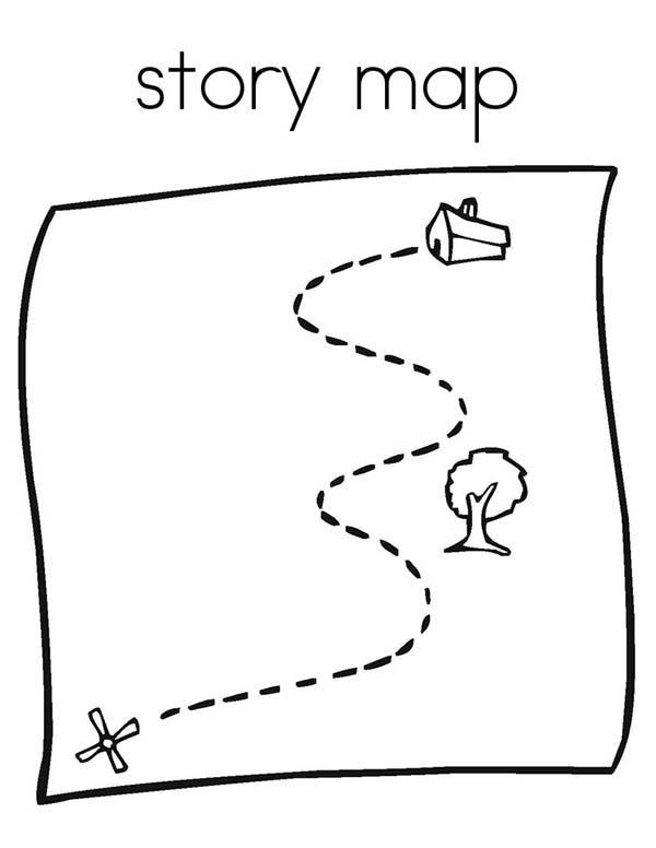 Story Maps Coloring Pages