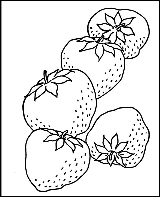 Strawberry Coloring And Drawing Pages