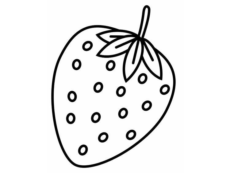 Strawberry Coloring Pages For Kids