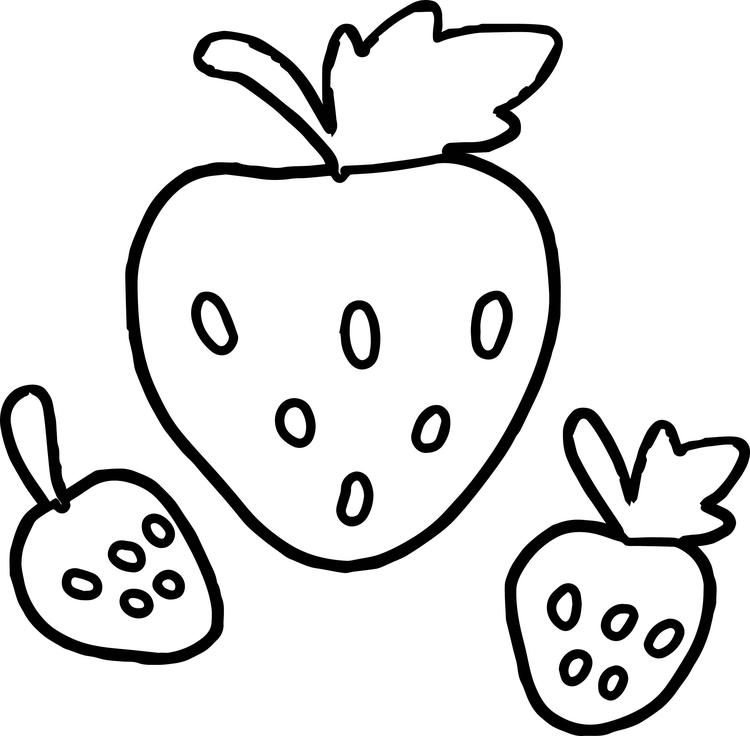 Strawberry Coloring Pages For Preschool