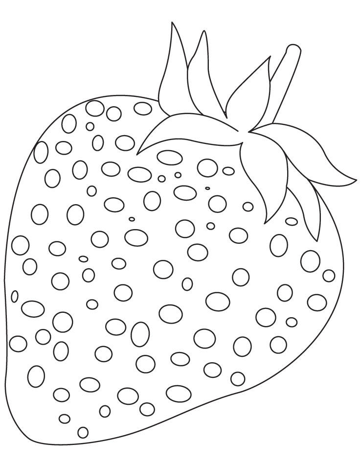 Strawberry Coloring Pages Free To Print
