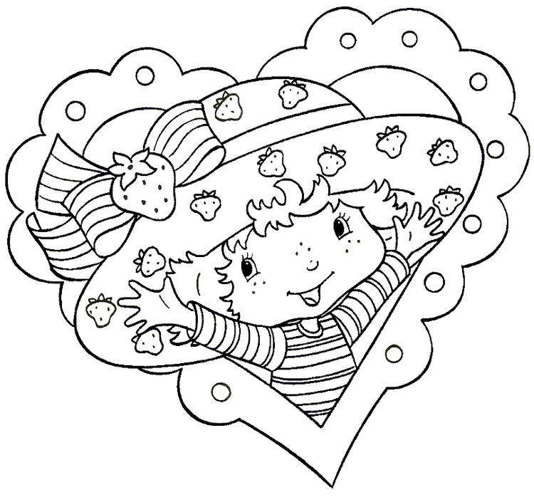 Strawberry Shortcake Coloring Page For Kids