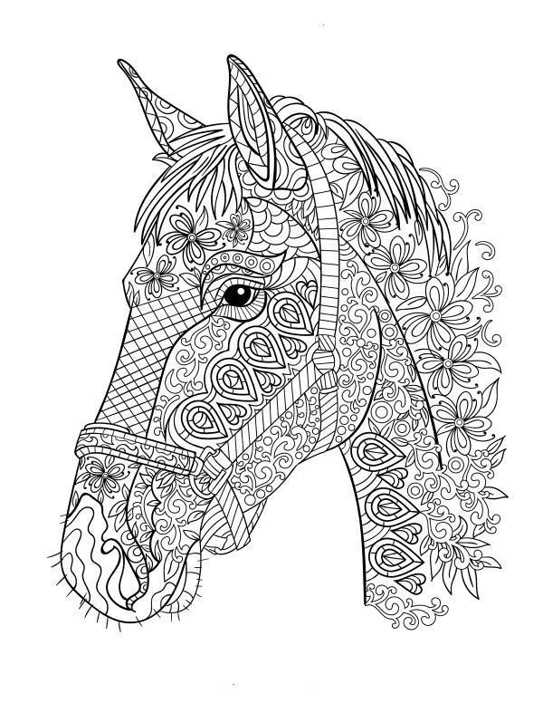 Stress Relief Horses Coloring Pages
