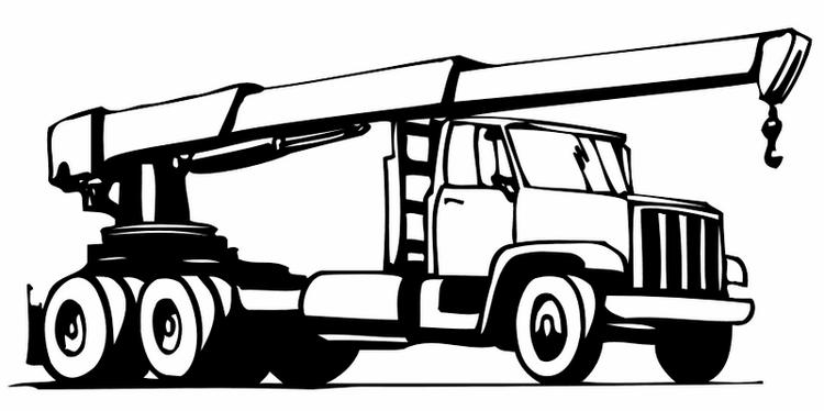 Strong Crane Truck Coloring Sheet