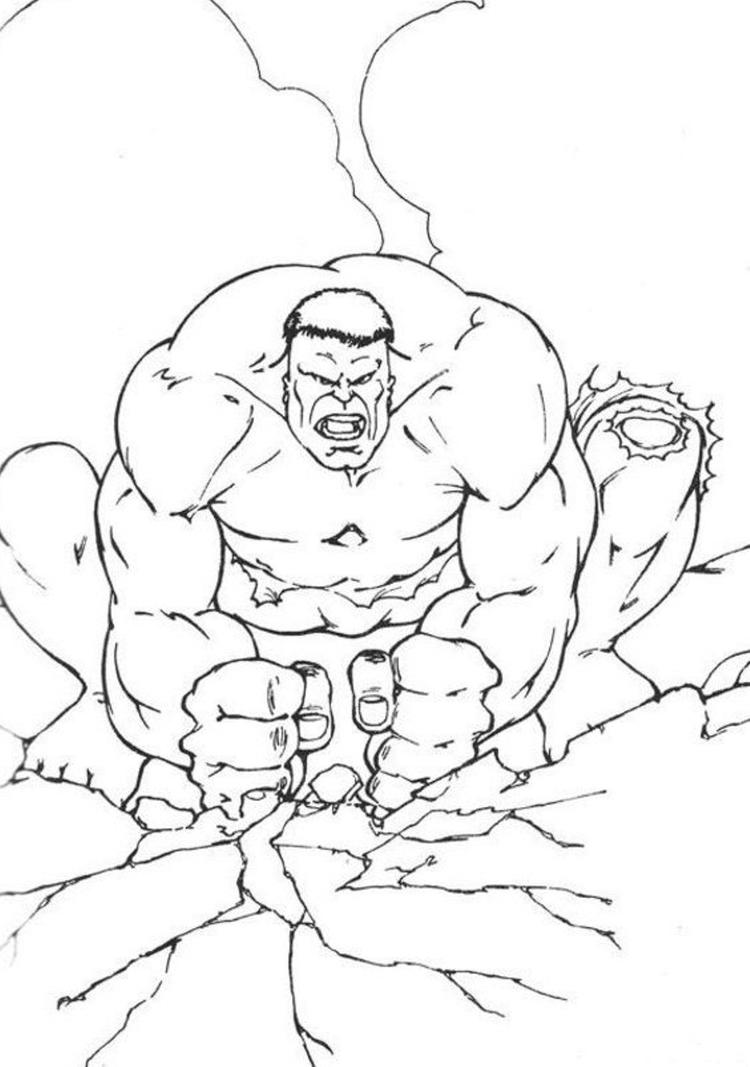 Stronger Hulk Coloring Pages