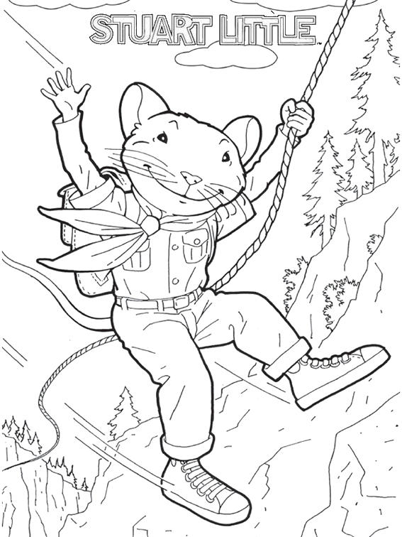 Stuart Little Swing Coloring Sheet