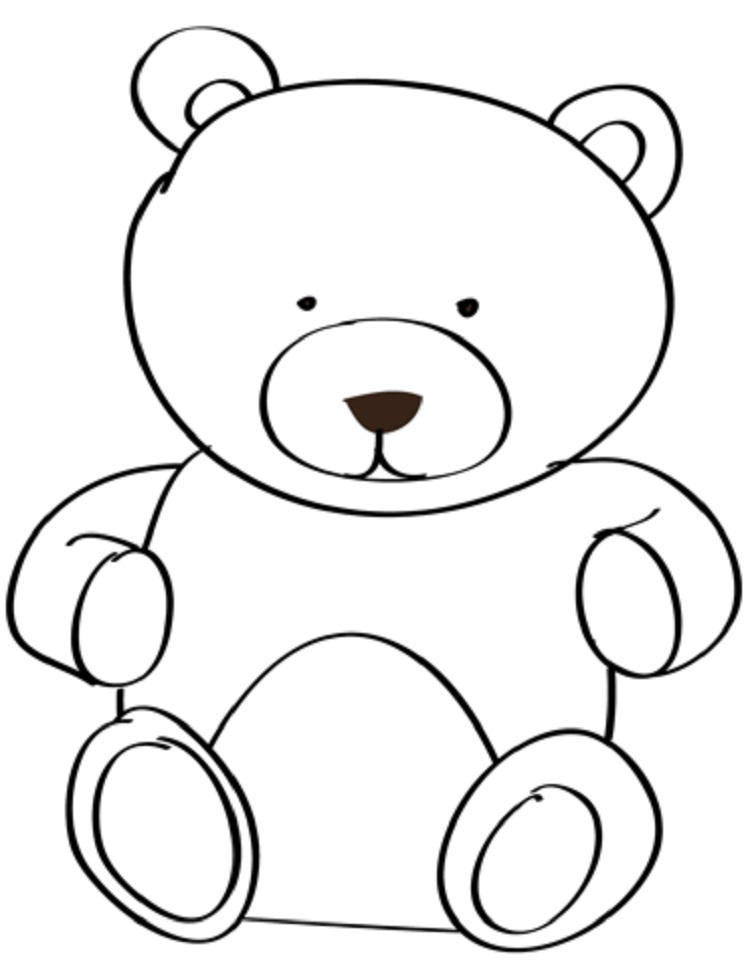 Stuffed Bear Coloring Pages