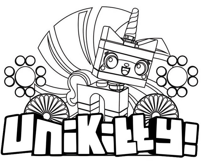 Stunning Unikitty Coloring Page For Girls And Boys