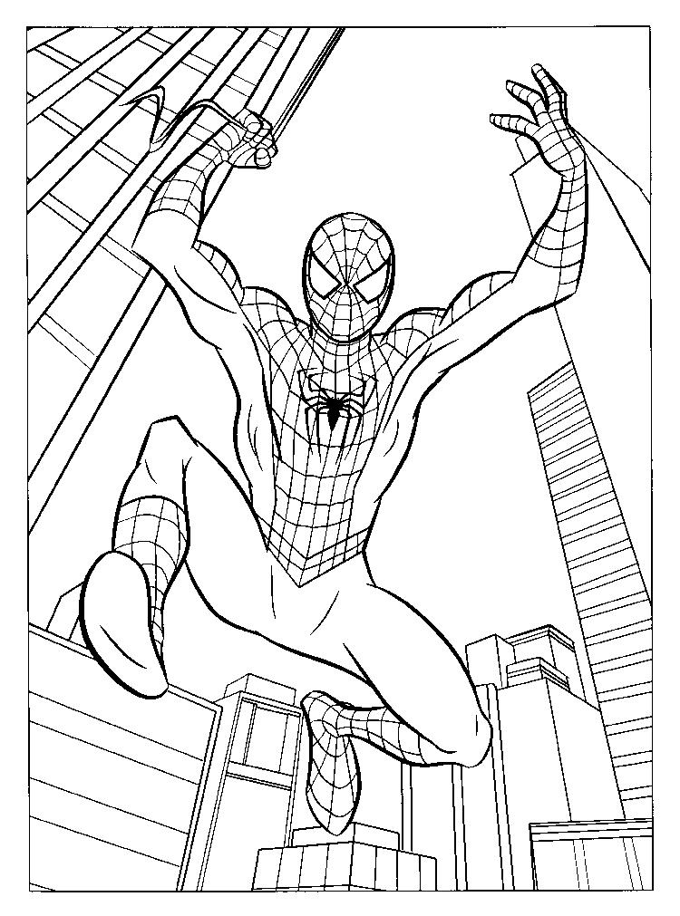 Style Marvel Coloring Pages Spiderman