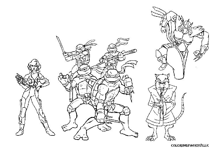 Style Teenage Mutant Ninja Turtles Coloring Pages