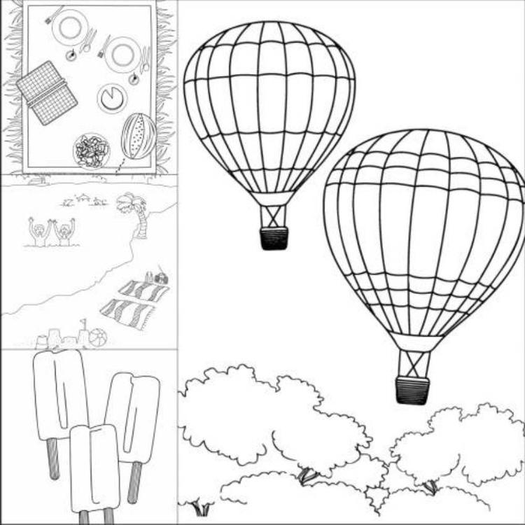 Summer Coloring Pages Activities