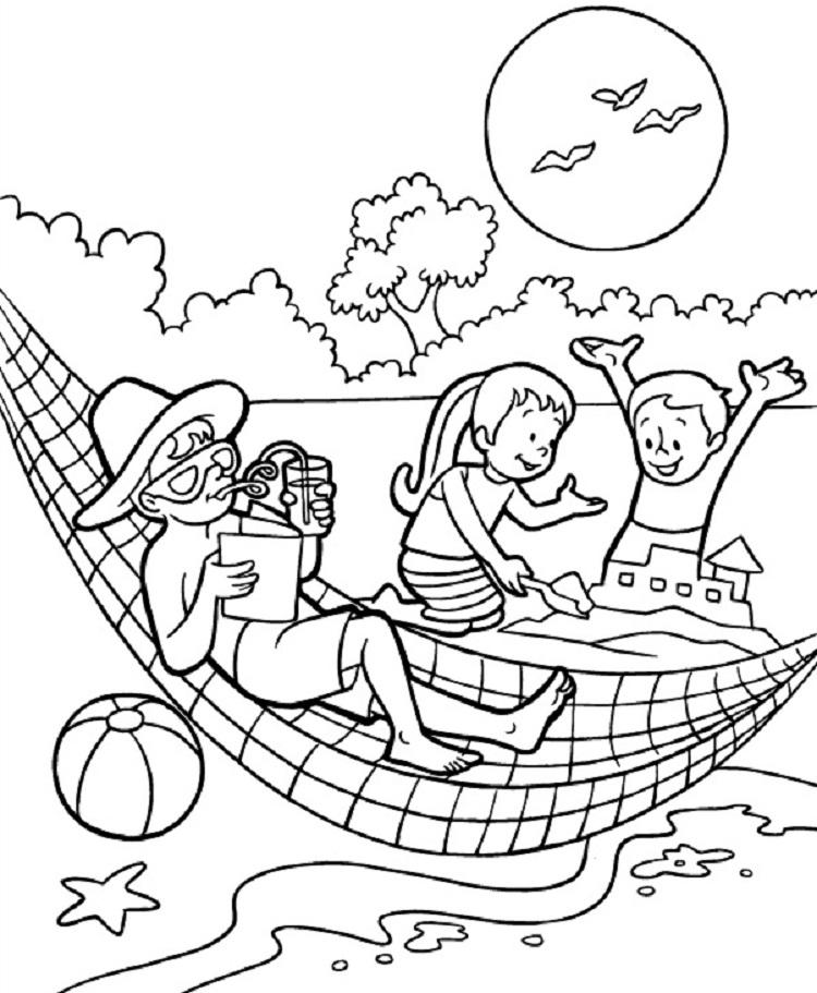 Summer Days Coloring Pages