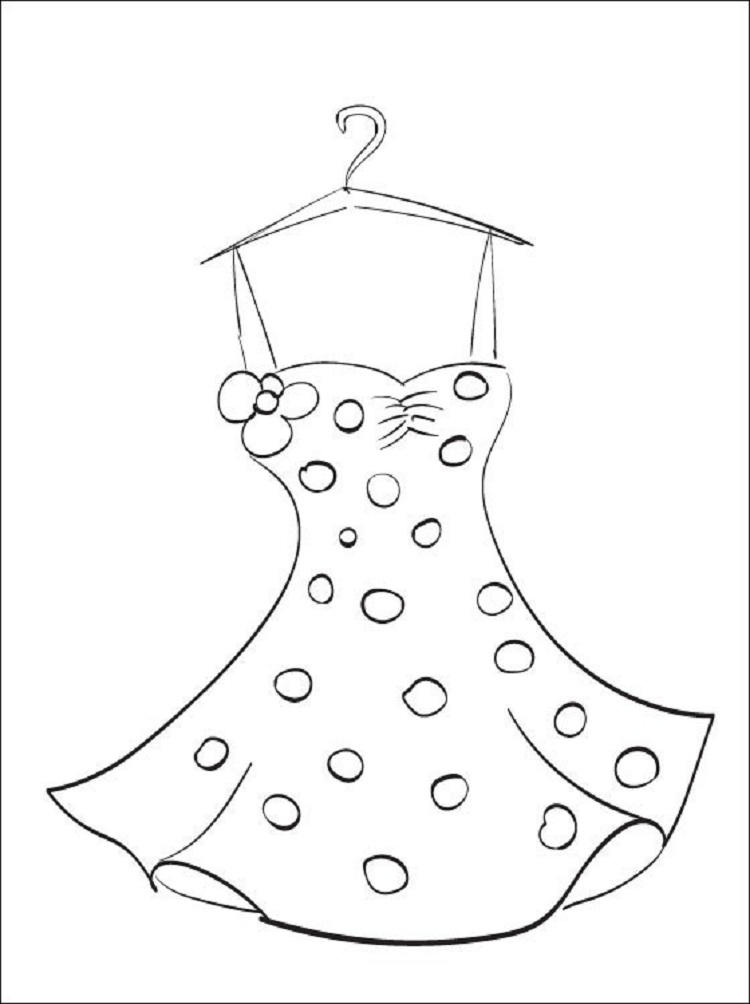 Summer Dress Coloring Pages