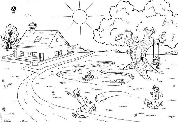 Summer Garden Coloring Pages