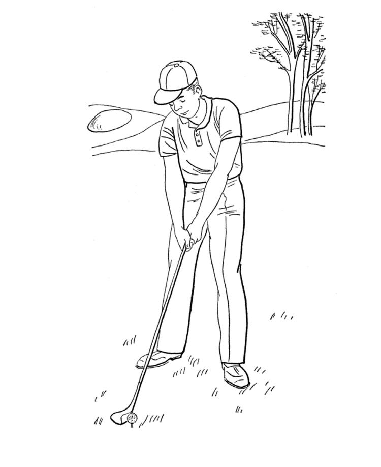 Summer Golf Sports Coloring Pages