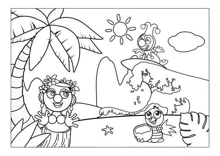 Summer Hawaii Coloring Pages