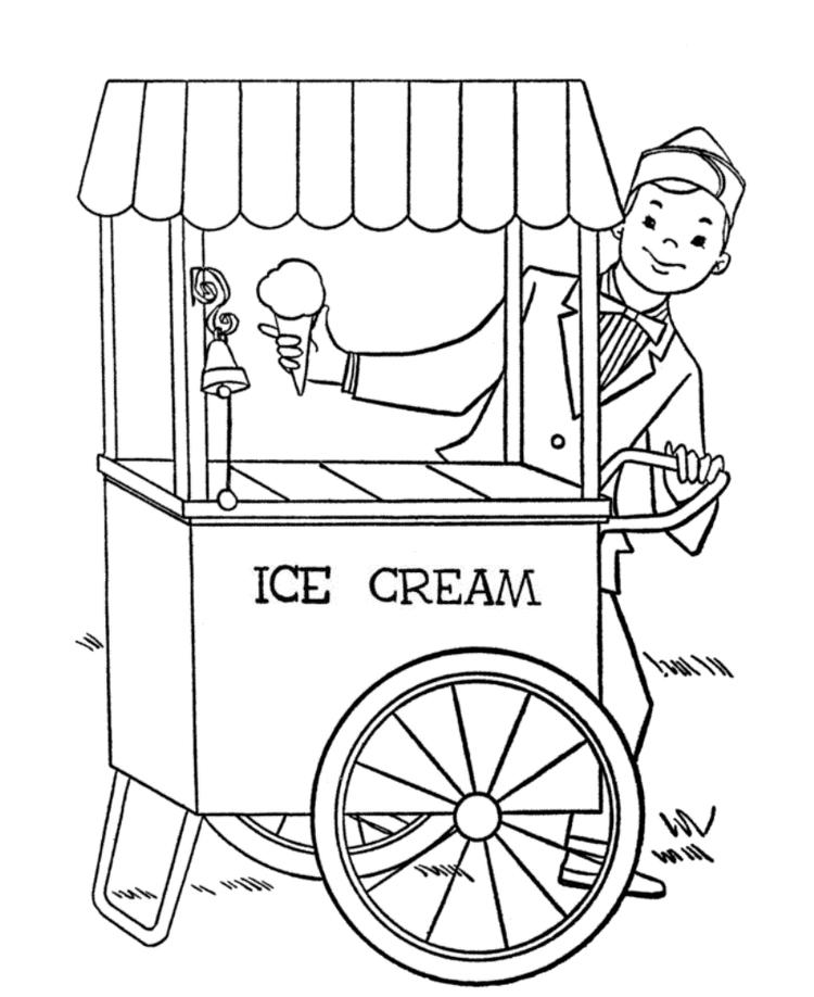 Summer Ice Cream Coloring Pages