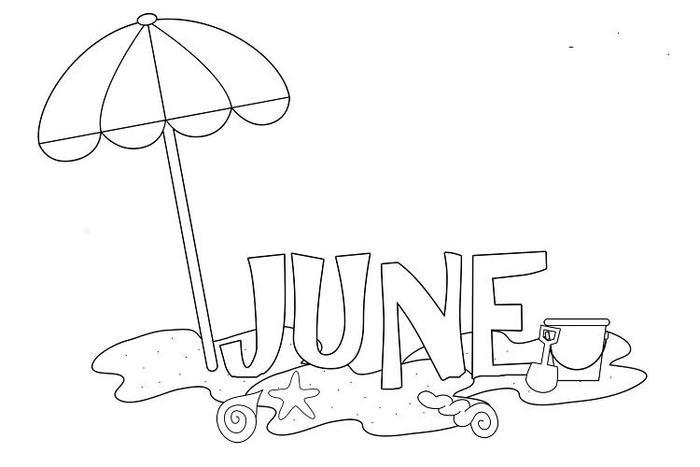 Summer June Coloring Pages