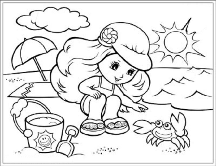 Summer Season Coloring Pages