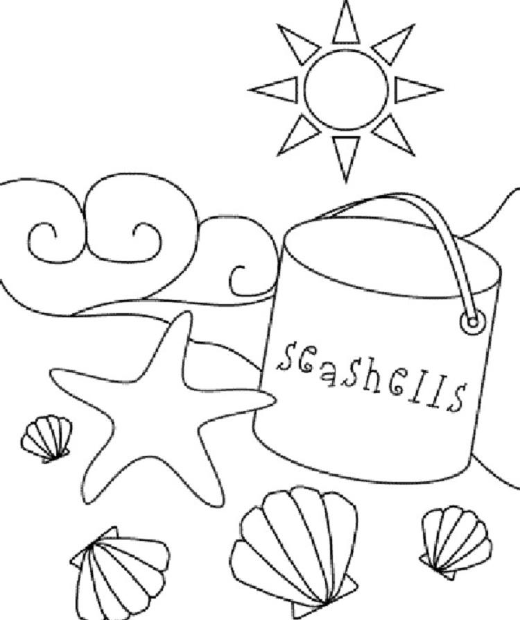 Summer Themed Coloring Pages Printable