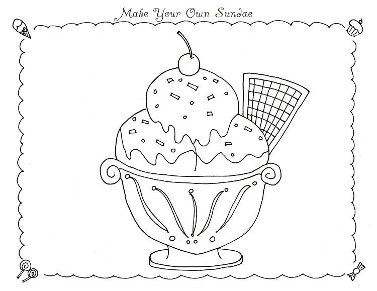 Summer Treats Coloring Pages