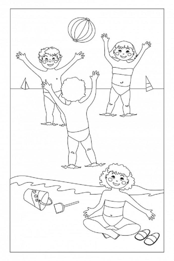 Summer Volleyball Coloring Pages