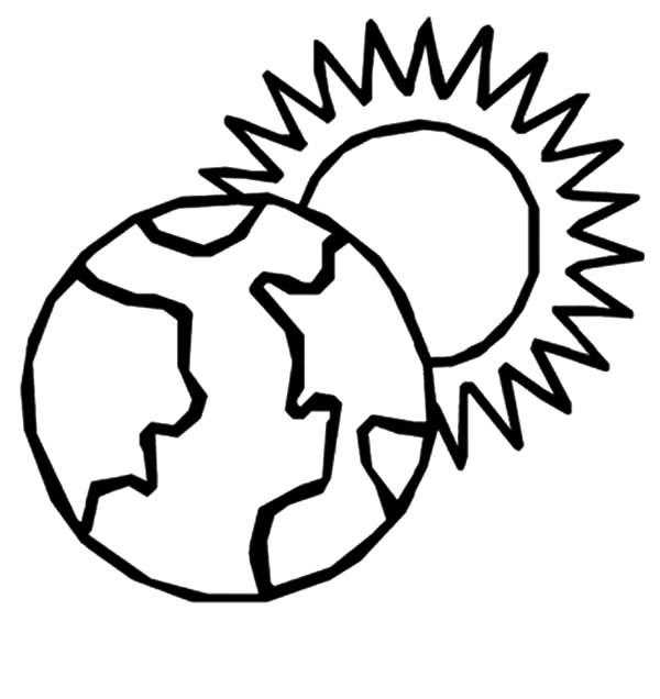 Sun Coloring Pages And Earth