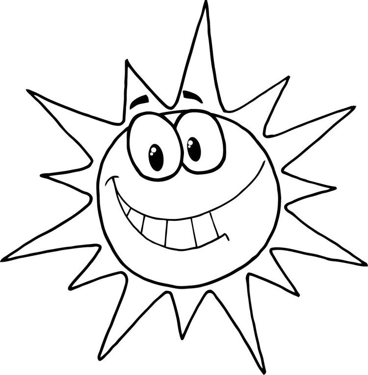 Sun Coloring Pages Cartoon