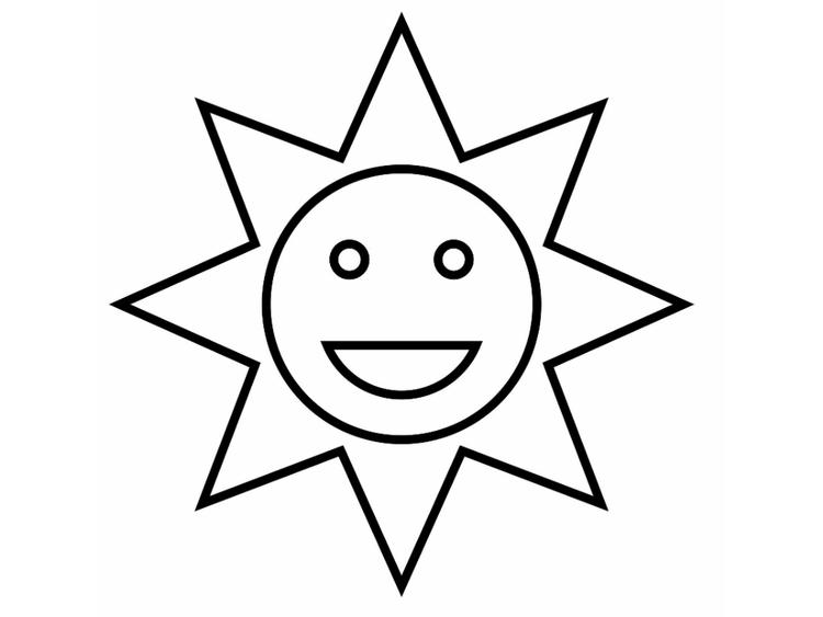 Sun Coloring Pages For Toddler