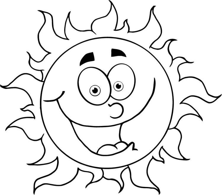 Sun Coloring Pages With Face