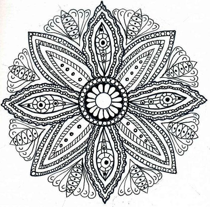 Sun Flower Coloring Sheet