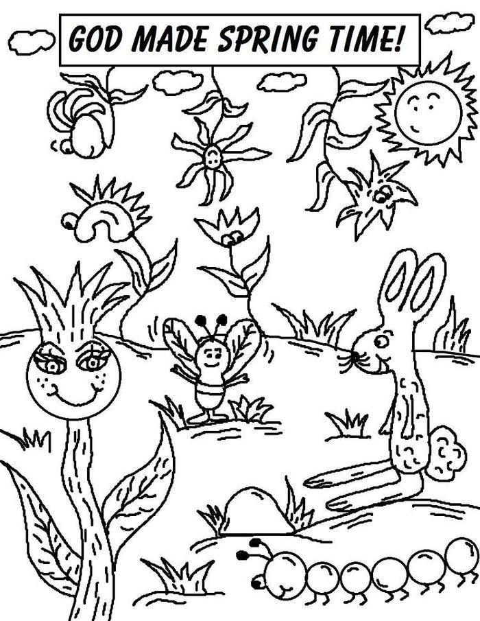 Sunday School Coloring Pages Spring