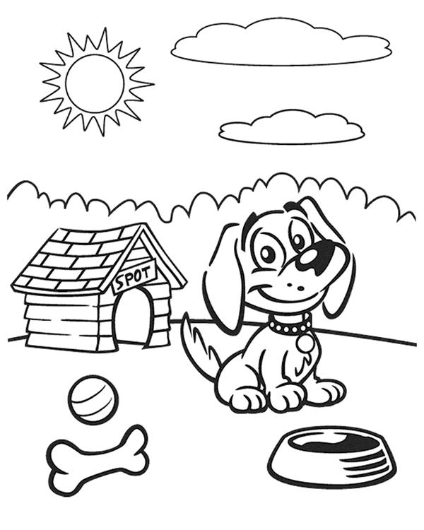Sunny day conditions in environment coloring sheet