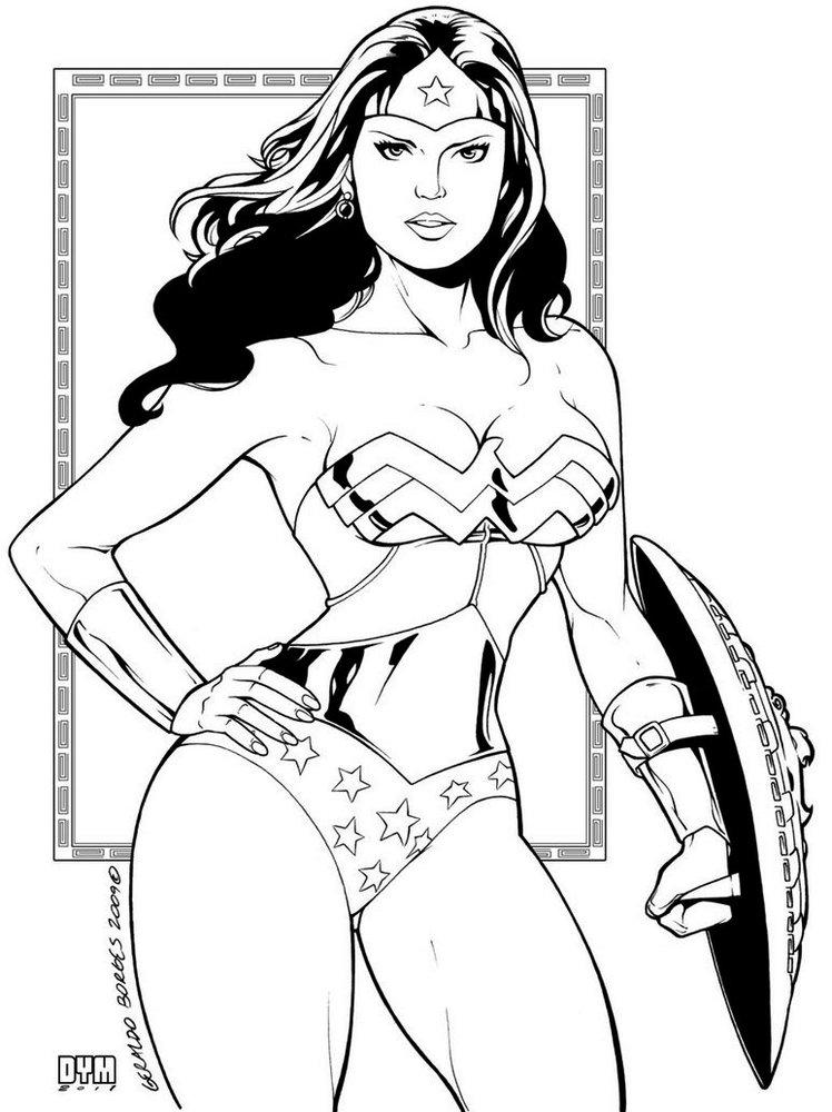 Super Girls Gal Gadot Wonder Woman Coloring Pages Hd