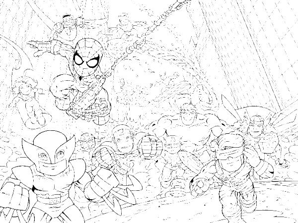 Super Hero Squad Marvel Coloring Pages