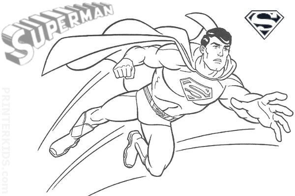 Super Hero Superman Coloring Pages For Kids Printable