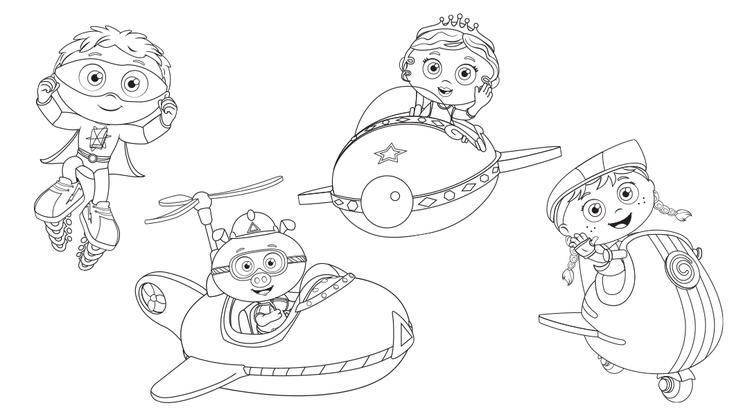 Super Why Coloring Pages For Kids