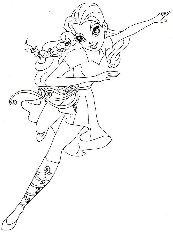 Supergirls Coloring Pages Poison Ivy