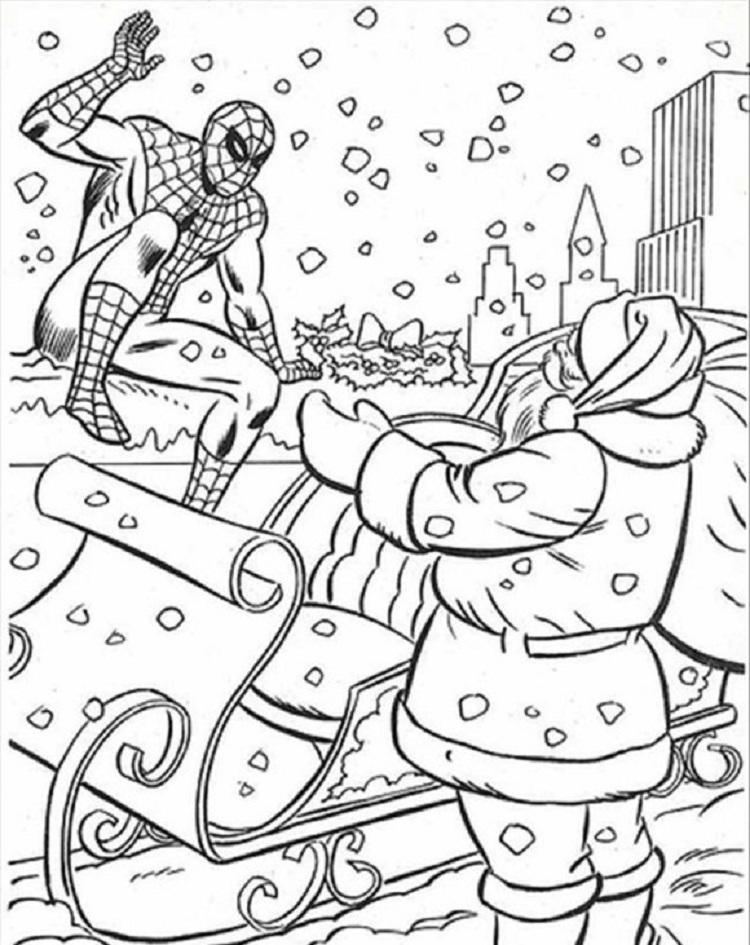 Superhero Christmas Coloring Pages
