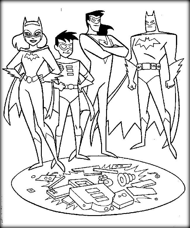 Superhero Coloring Pages Free To Print