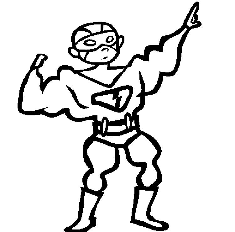 Superhero Costume Coloring Pages