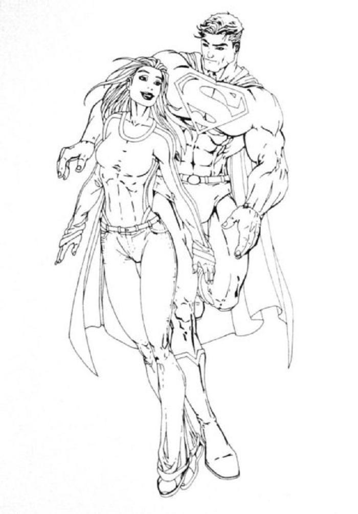 Superman And Supergirl Coloring Pages - Coloring Ideas