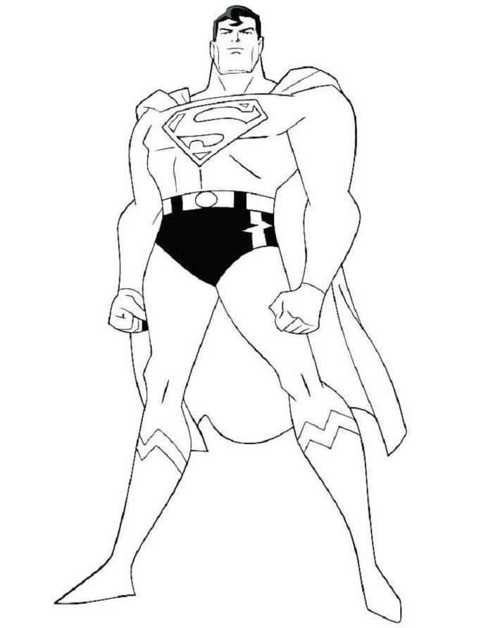 Superman Coloring Pages Easy