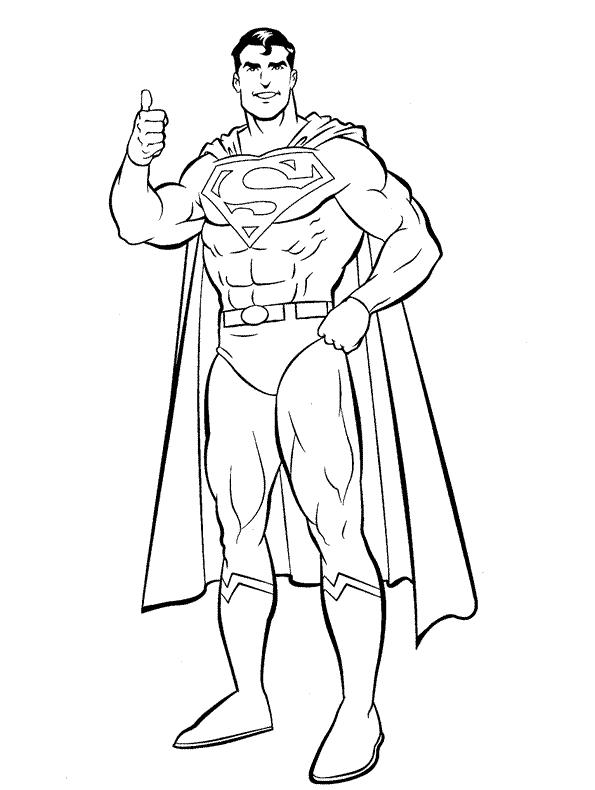 Superman Coloring Pages For Preschoolers